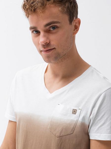 Meeste tavaline t-shirt S1380 - brown Harrison