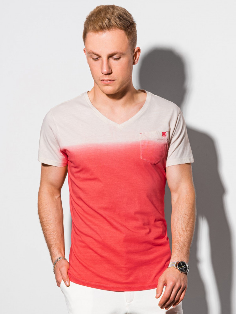 Meeste tavaline t-shirt S1380 - punane Evan