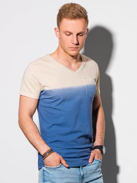 Meeste tavaline t-shirt S1380 - tumesinine Waylon