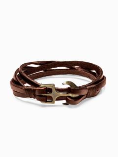 Men's bracelet on the strap A205 - brown