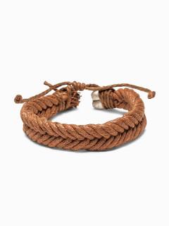 Men's braided bracelet A207 - camel