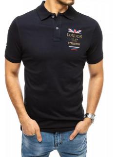 Koszulka polo z haftem granatowa Dstreet Meeste särk Kabir