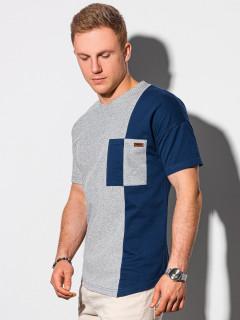 Meeste tavaline t-shirt S1455 - navy Landon