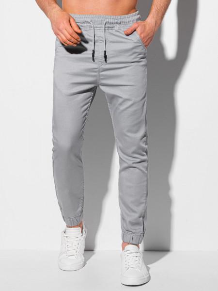 Men's pants joggers P1037 - light grey