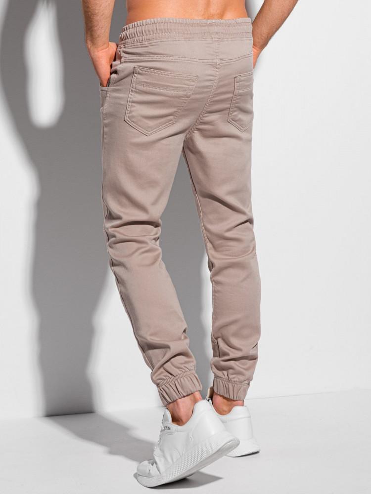 Men's pants joggers P1037 - light beige