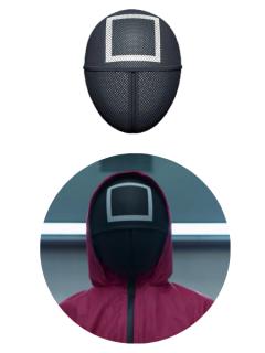 Laste SQUID GAME mask (ruut)